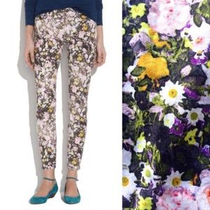 Madewell floral slim fit skinny denim jeans